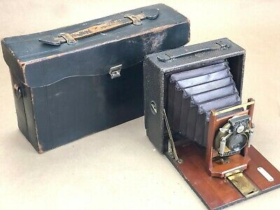 Vintage 4x5 Red Bellows Pony Premo No. 4 w/Case-Needs Minor Attention!!!!
