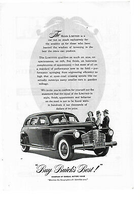 """Magazine Advertisement for 1941 Buick Limited; 7"""" x 10"""""""