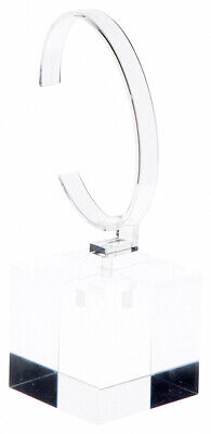 "Plymor Clear Acrylic Watch Display Stand, 2"" W x 2"" D x 5.5"" H"
