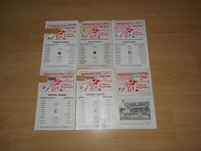 (201) 6 x Manchester United Reserves 1965-78 - No Duplicates