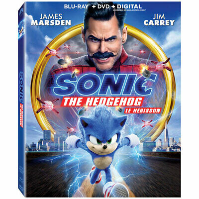 Sonic the Hedgehog ( Blu-ray/DVD/Digital ) w/ Slipcover +bonus comic book 2020