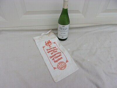 University of Texas Experimental Wine Bottle and Bag--Vintage 1987 COOL