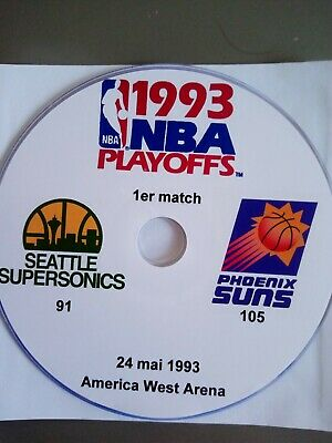 NBA Playoffs 1993 DVD Seattle SuperSonics vs Phoenix Suns