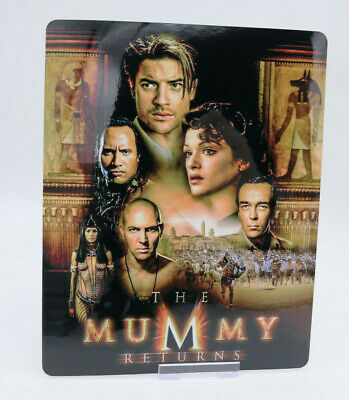 THE MUMMY RETURNS - Glossy Bluray Steelbook Magnet Cover (NOT LENTICULAR)