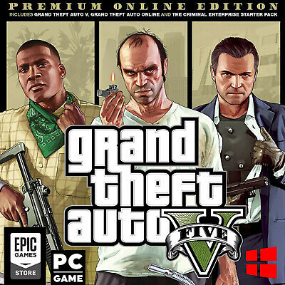 Grand Theft Auto V PC ⭐️ Premium ⭐️ Online Edition ⭐️ Epic Games [8Hrs Delivery]