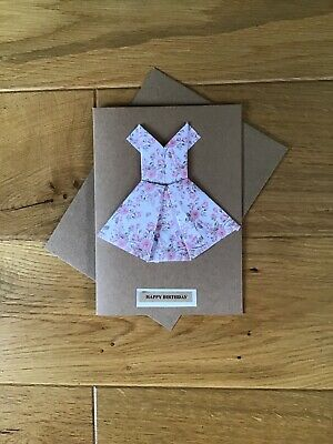 Origami Dress Birthday Card | kittykatkards | Flickr | 400x300