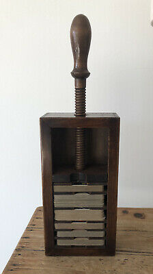 Vintage Wooden Playing Card Press