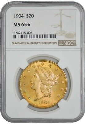 1904 $20 Gold Liberty MS65* NGC 942760-24