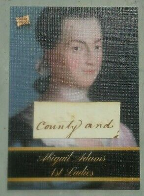 2020 The Bar -- Pieces of the Past -- ABIGAIL ADAMS -- First Ladies -- Relic