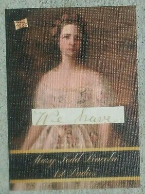 2020 The Bar -- Pieces of the Past -- MARY TODD LINCOLN -- First Ladies -- Relic