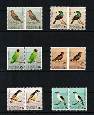 Zambia 1977 Birds Of Zambia Set In Pairs = ( 2 Sets ) Unmounted Mint Sg262-267