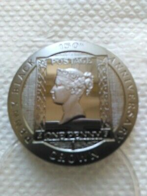 1990 Penny Black Proof Silver Coin 150th Anniversary of World's First Stamp Rare