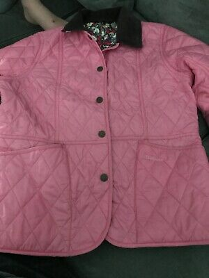Barbour jacket Girls  size xxl pink