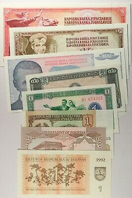 Lot Of 9 World Notes...unc