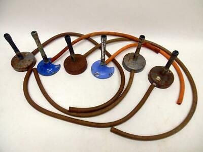 6 Vintage Bunsen Burners Complete With Rubber Tubing