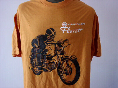 KREIDLER Florett ★ Heavy T-Shirt * NEU Siebdruck * Moped * Kornwestheim * orange