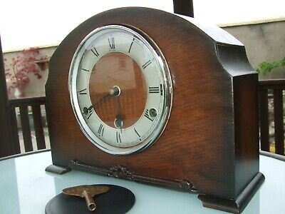 A Nice Vintage 'Bentima' clock with Floating Balance movement Westminster Chimes