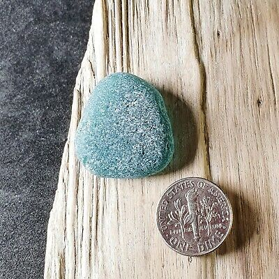 An Extra-Large Teal Blue Piece with Imperfections - Genuine Icelandic Sea Glass