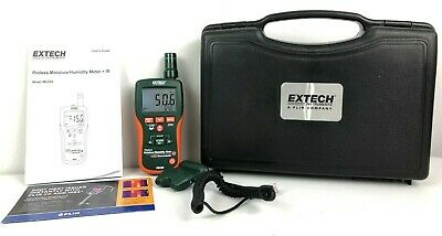 Extech 8 In 1 Pinless Moisture Humidity Meter M0290 Built In Ir Thermometer