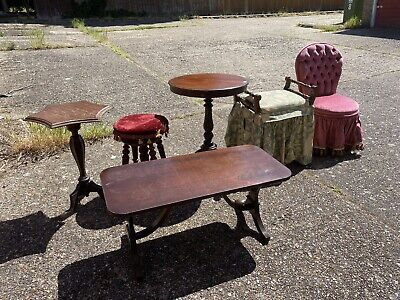 Job Lot Of Antique Vintage Furniiture For Restoration Upcycling Projects
