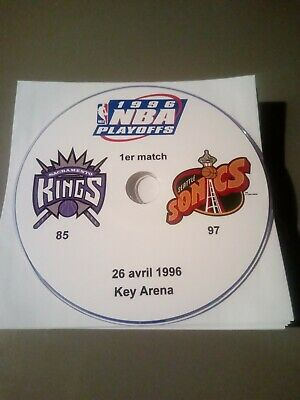 NBA Playoffs 1996 Sacramento Kings vs Seattle SuperSonics