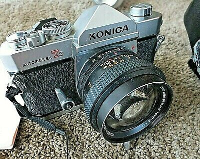 Konica Autoreflex T3 35Mm Slr Camera Looks Great With Case Made In Japan
