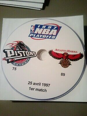 NBA Playoffs 1997 Detroit Pistons vs Atlanta Hawks