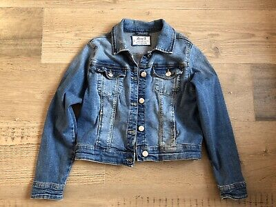 Girl's Denim Jacket Size 10-11 Years Blue From Primark New