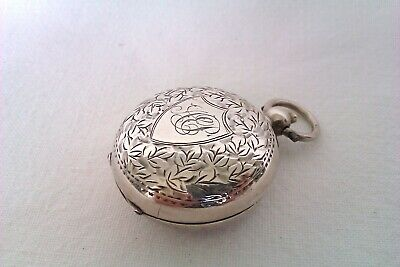 Beautifully Engraved Solid Silver Full Sovereign Case Birmingham 1914