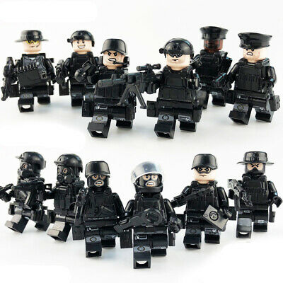 LEGO 12 Piece Military SWAT Police Minifigures Building Blocks Ammo Compatible