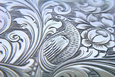 Extremely Rare Solid Silver Nathaniel Mills Early Victorian Card Case 1846