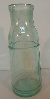 J J W Trade Mark Peters? Capers Olives Condiments?Lt Green ANTIQUE Glass Bottle
