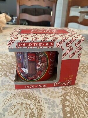 Coca Cola Coffee Mug Cup Coke Eras Collectors Edition Mug (NEW) 1960-1980