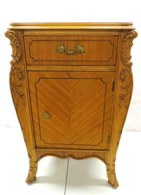 Antique French Walnut Nightstand Night Stand Bed Cabinet Joerns Bros. Furniture