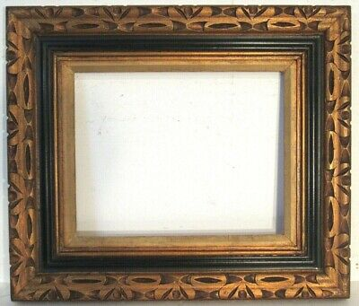 Antique Hand Carved Gilded Wood Frame For Painting  14 X 11 Inch