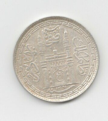 Hyderabad Silver 1942 Rupee-Lot E27