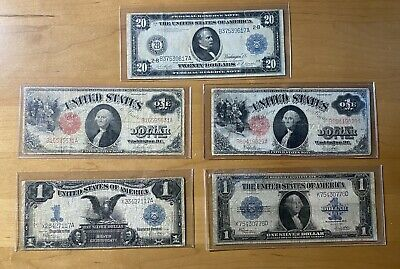 Large Note Lot U.S Currency