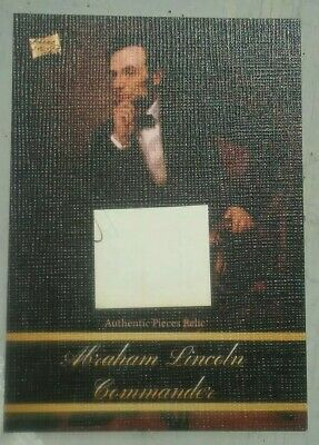 2020 The Bar -- Pieces of the Past -- ABRAHAM LINCOLN -- Document Pieces Relic