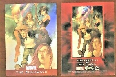 2010 Marvel Foil Card THE RUNAWAYS #1 Art by Jo Chen