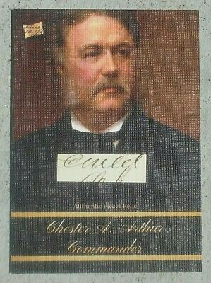 2020 The Bar - Pieces of the Past -- CHESTER A. ARTHUR -- Document Piece Relic