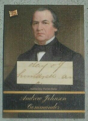 2020 The Bar - Pieces of the Past -- ANDREW JOHNSON -- Document Piece Relic