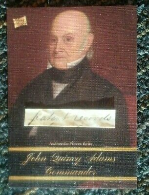2020 The Bar - Pieces of the Past -- JOHN QUINCY ADAMS -- Document Piece Relic
