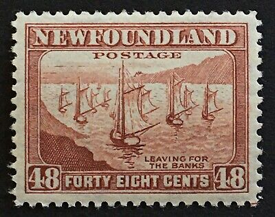 Lot12 Newfoundland Stamp 266 MH With gum.