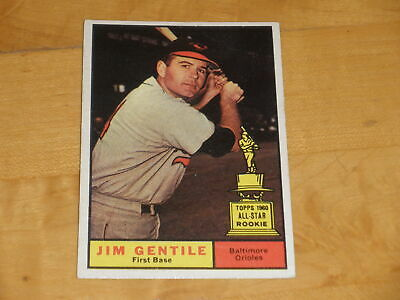 1961 Topps Baseball High Number All Star Rookie Cup #559 Jim Gentile