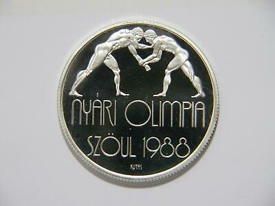 Hungary 1988 500 Forint Seoul Olympics Silver Crown Size Proof World Coin 🌈⭐🌈