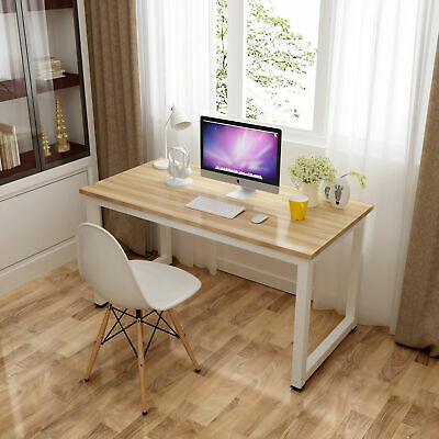 Wood Computer Desk PC Laptop Table Study Workstation Home Furniture Office USA