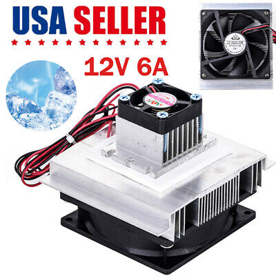 Thermoelectric Peltier Refrigeration Cooling System Kit Cooler Fan Power 60W 12V