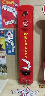 Wrigley's  Vintage Vending Machine, fully refurbished with 50 dummy packets