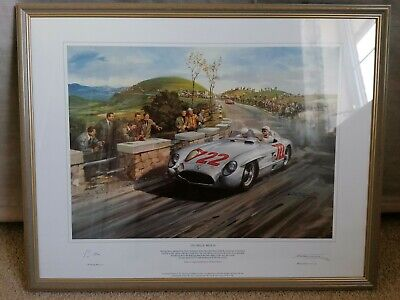 Sir Stirling Moss signed Mille Miglia print Michael Turner limited edition