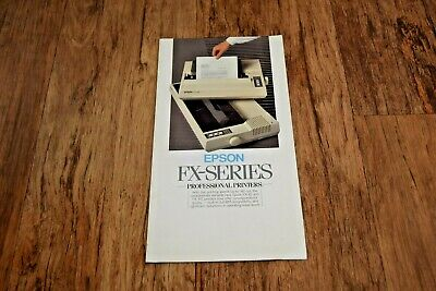 Epson FX SERIES DOT MATRIX Printer BROCHURE Rare Vintage 1985